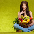 Fruits and vegetables shopping — Stock Photo #4786634