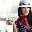 Woman and Sailor fashion style — Stock Photo #4788604