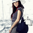 Woman and Sailor fashion style — Stock Photo #4788655