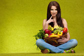 Fruits and vegetables shopping — Stock Photo