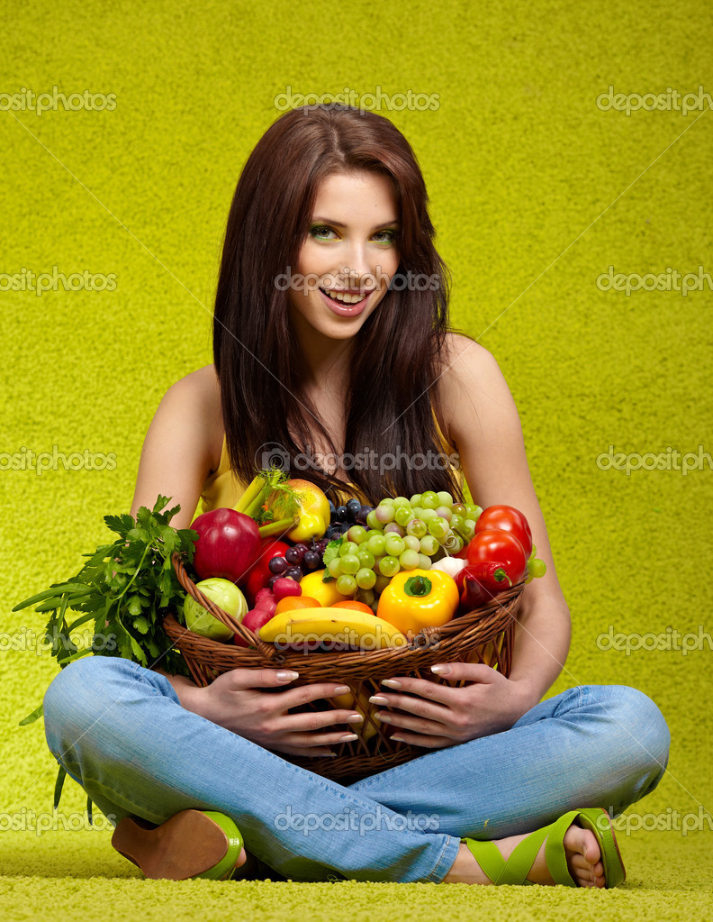 Fruits and vegetables shopping — Stock Photo #4786601