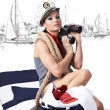 Summer Woman and Sailor fashion style — Stock Photo #4898641