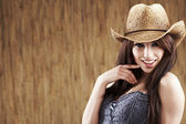 Sexy woman with cowboy hat — Stock Photo