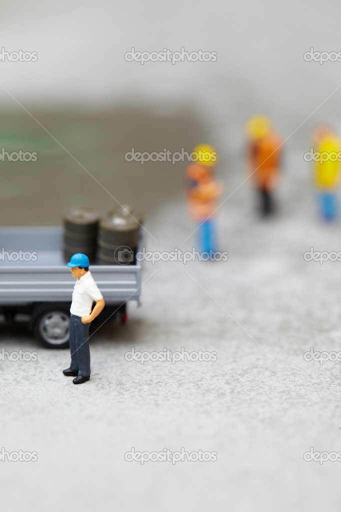 Miniature technicians working   Stock Photo #4898711