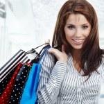 Beautiful shopping woman — Stock Photo