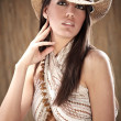 Stock Photo: Sexy womwith cowboy hat