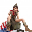 American pin-up army girl — Stock Photo #5031102