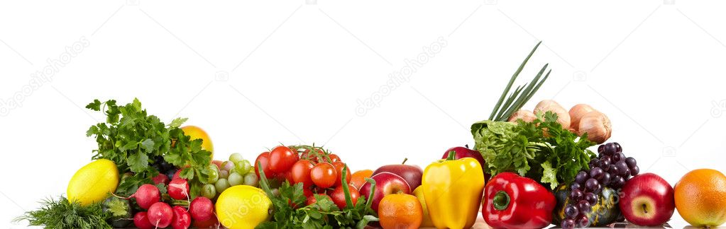 Fruit and vegetable borders  — Stock Photo #5195248