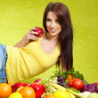 Young woman shopping for vegetables — Stock Photo #5309463