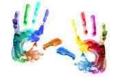 Hands print. — Stock Photo