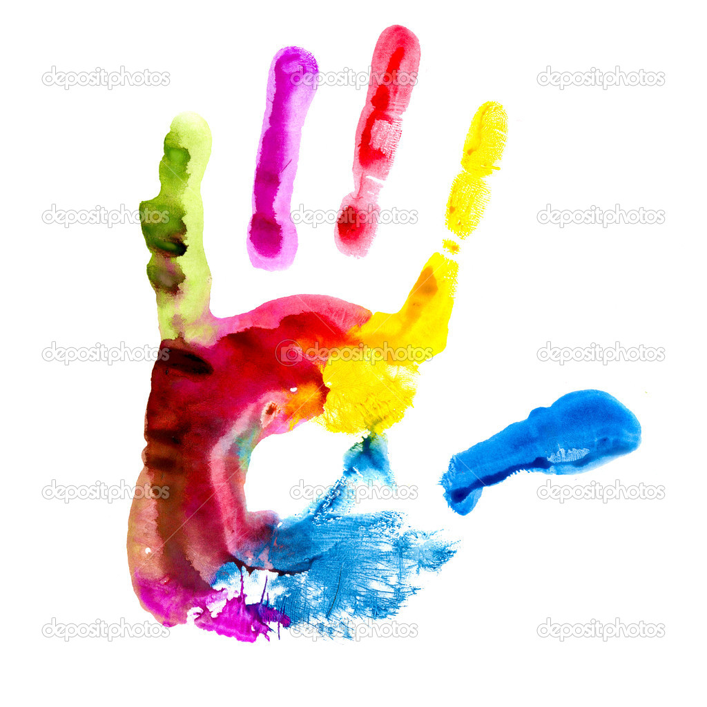 Multicolored hand print. — Stock Photo #4594740