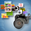Royalty-Free Stock Photo: Digital camera and photographs