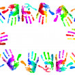 Multi coloured handprints — Stock Photo #4630612