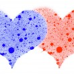 Two hearts. — Stock Photo