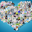 Heart and pictures — Stock Photo