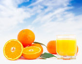 Fresh orange juice. — Stock Photo