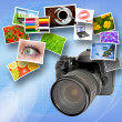 Digital camerand photographs — Stock Photo #4813921