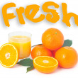Fresh orange juice. — Stock Photo