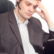 Businessman with headset — Stock Photo