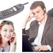Communication collage — Stock Photo #4894978