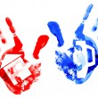 Multi coloured handprints. — Stock Photo #4895173