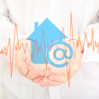 The symbol of home internet. — Stock Photo
