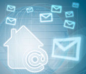 Casa internet — Foto de Stock