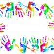 Multi coloured handprints — Stock Photo #5124774