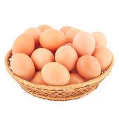 Basket in eggs. — Stock Photo