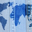World map of jeans — Stock Photo