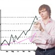 Businessman and graph. - Stock Photo