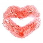 Kiss print — Stock Photo