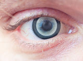 Eye and speaker — Stock Photo