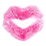Kiss print on white — Stock Photo