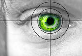 Mans green eye — Stock Photo