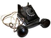 Stary telefon czarny — Zdjęcie stockowe