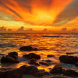 Tropical sea sunset - Stock Photo