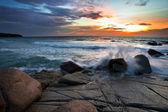 热带海上日落 — 图库照片