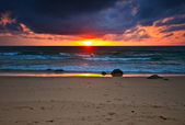 Tropical sea sunset — Stock Photo