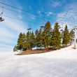 Ski lift chairs — Stock Photo #5041554
