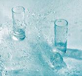 Glasses in water — Stock Photo