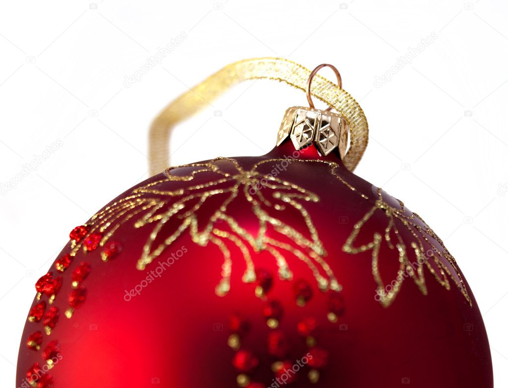 Christmas decorations - balls on a white background  — Stock Photo #5041521