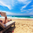 Stock Photo: Relaxing on beach