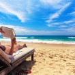 Relaxing on the beach — Stock Photo #5118180