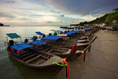 Thai boats near the beach — Stock Photo