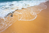 Diagonal of sand and wave background — Stock Photo