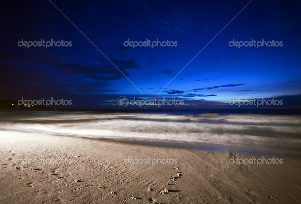 Night at the tropical beach. Phuket. Thailand  — Stock Photo #5329445