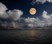 Moon and sea — Stock Photo