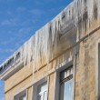 Icicles on a roof — Stock fotografie #5277489