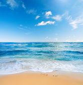 海滩和海 — 图库照片